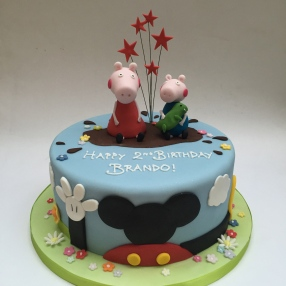 Mickey Mouse Club and Peppa Pig Cake